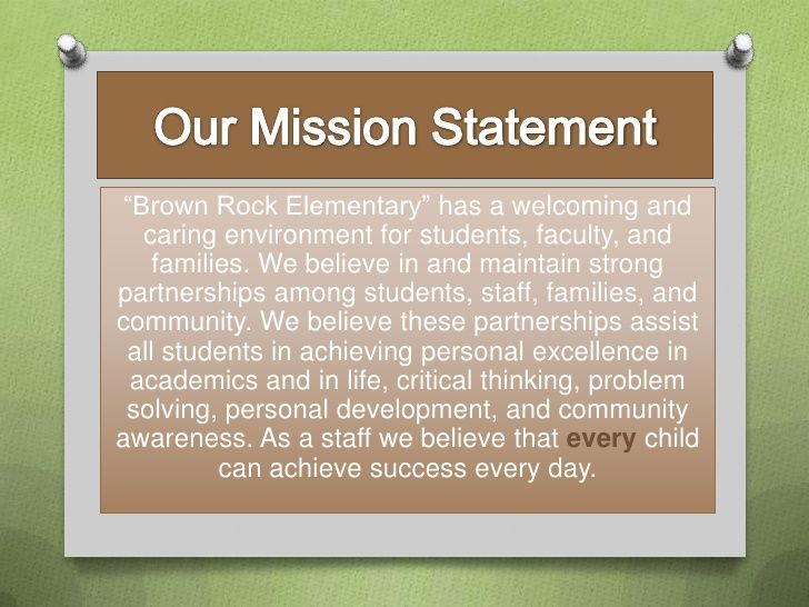 Image Result For Elementary School Vision Statement Examples
