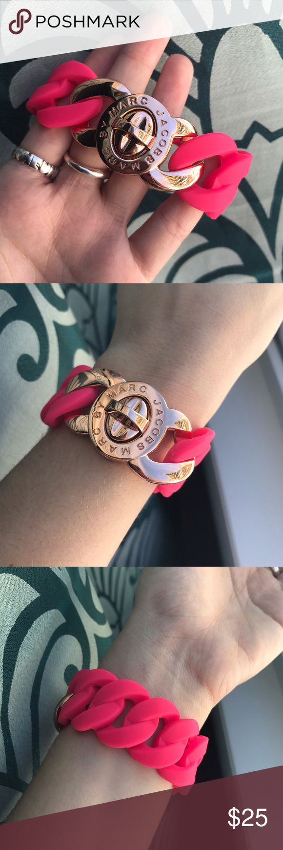 Marc by Marc Jacobs Pink/Rose Gold Chain Bracelet Hardware has no scratches. In perfect condition! Ships with non-brand jewelry bag. Marc by Marc Jacobs Jewelry Bracelets