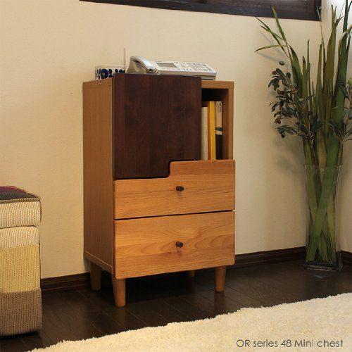 受注生産品 OR 幅48cm ロータイプ 電話台 チェスト 日本製 木製 ルーター収納可能 grove
