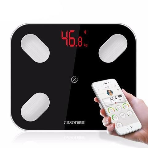 Digital Bluetooth Smart Scale - Black,White  Best App Fitness Track Weight Loss Shops Health Awesome Body Motivation Healthy Exercise Workout Health Fitness Home Bathroom Diet Products Store Links Website For Sale Buy Gift Ideas Online Shopping Balance Connectée France achat en ligne site bon poid sante iphone android USA Canada Australia