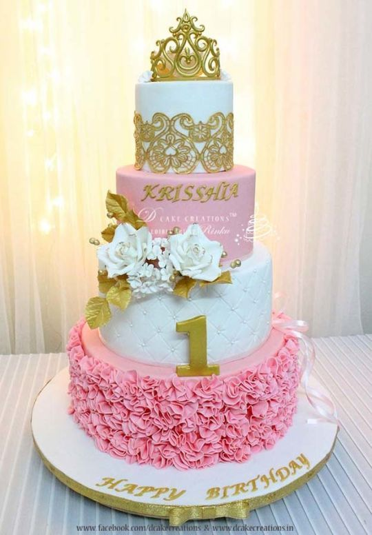 birthday princess themed first birthday princess theme cake girl first ...