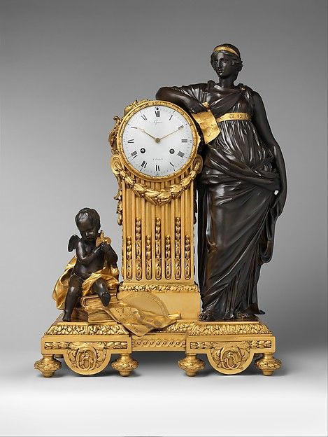 "Mantel clock (""Pendule Uranie""), ca. 1764–70. Clockmaker: Jean-André Lepaute (French, 1720–1789). Clockmaker: Jean-Baptiste Lepaute (French, 1727–1802). The Metropolitan Museum of Art, New York. Bequest of Ogden Mills, 1929 (29.180.2)"