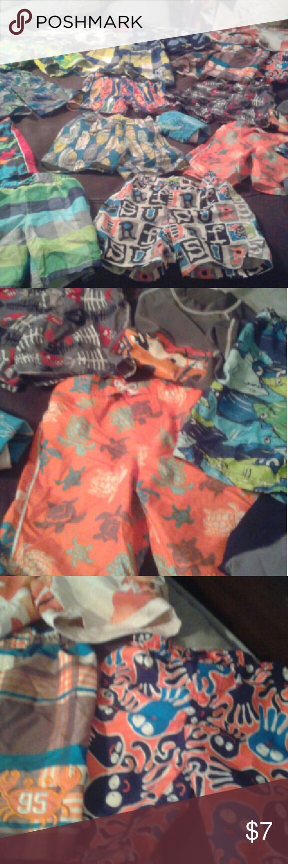 Buy individual 7 or buy lot for $79 over 25 pieces Boys Swimshorts 2t.3t,4t all pretty much brand new tons of styles and colors to choose from Swim Swim Trunks