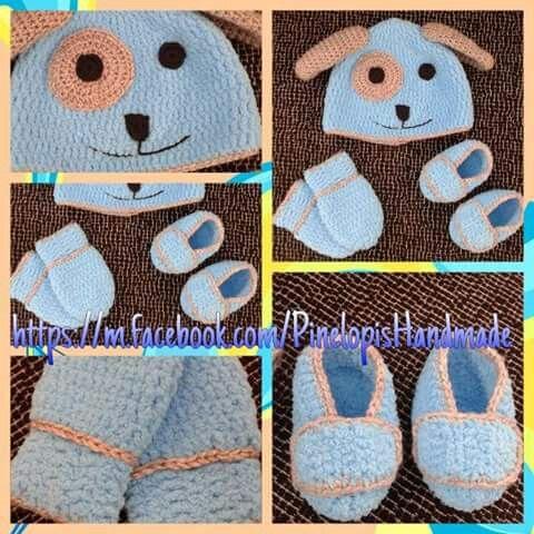 Crochet baby boy set!  https://m.facebook.com/PinelopisHandmade/