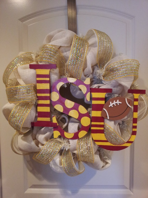 SALEBurlap Iowa State Cyclones wreath by DoorEnvy on Etsy, $60.00