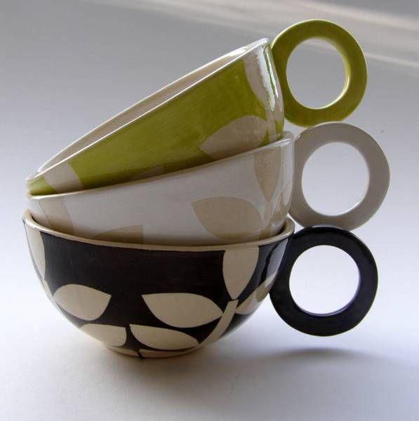 Holy beautiful. Coffee cups by Ken Eardley.