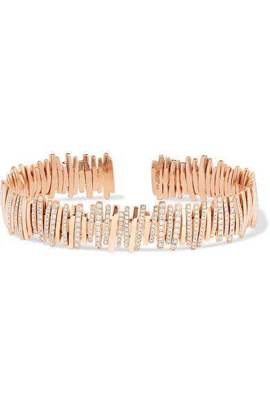 Shop Women's fashion SUZANNE KALAN 18-karat rose gold diamond cuff