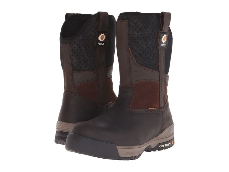 CARHARTT 10 Inch Force Brown Waterproof Pull-On. #carhartt #shoes #