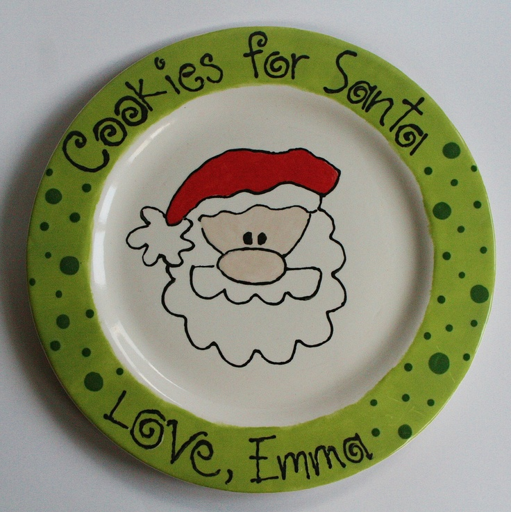 Cookies for Santa Plate by rschmitz on Etsy