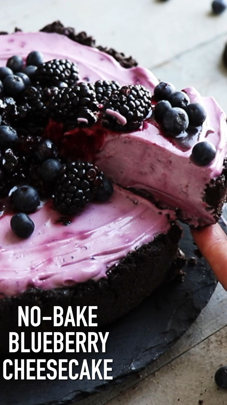 No-Bake Blueberry Cheesecake   Also The Crumbs Please