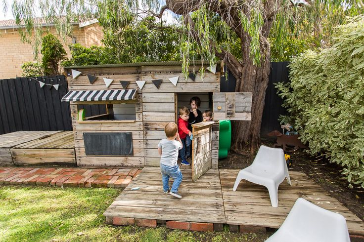 Castle and Cubby Midi Cubby House made from recycled wood