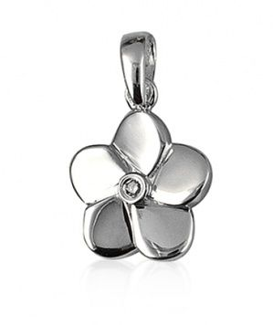 Pendant - DIAMOND FLOWER - Sterling Silver