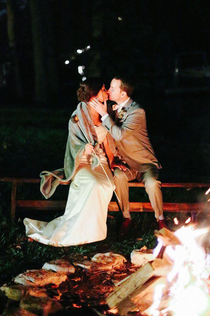 Lauren and Jon's Marshmallow Roast -Photography by Jenna Henderson #outdoorwedding