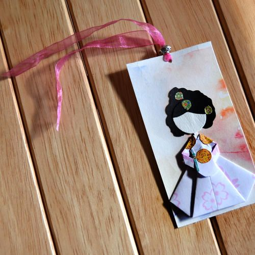 #bookmark  #retroattic #paper #korea #hanbok #paperart #papercraft