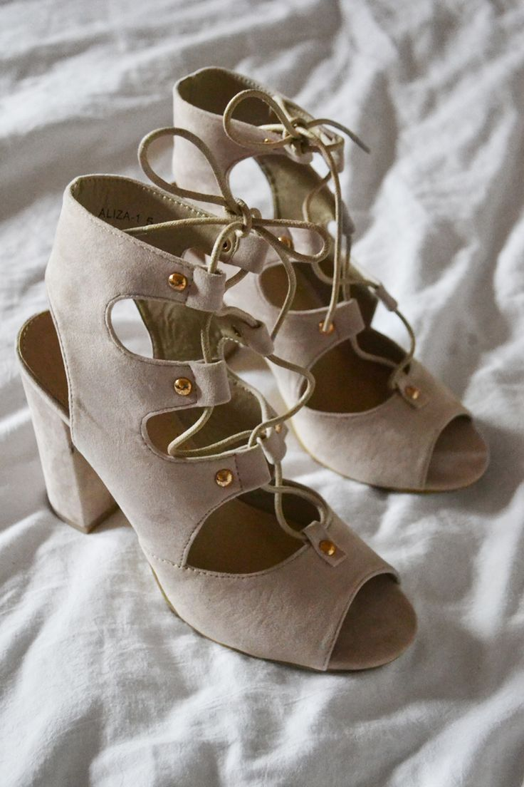 NEW BABIES |  Nude lace-up heels