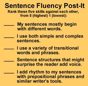 WritingFix: Sentence Fluency Resources and Lessons