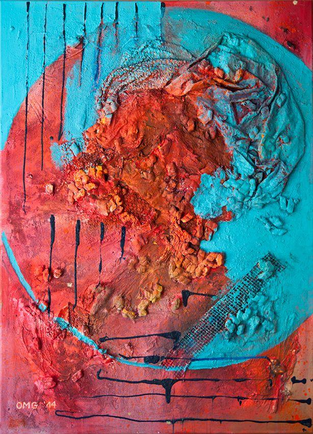 HAGN (have-a-good-night), 100 x 140 cm, technika mieszana na płótnie, 2014 r. IRL, czyli sztuka w trójwymiarze. Wystawa przestrzennych kolaży duetu OMG Paintings. http://artimperium.pl/wiadomosci/pokaz/702,irl-czyli-sztuka-w-trojwymiarze-centrum-promocji-kultury#.VrJYkbLhDIU