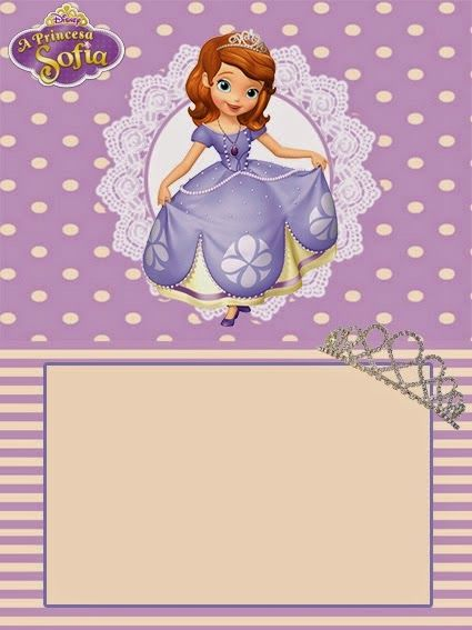 Sofia the First Free Printable Invitations, Cards or Photo Frames. | Oh My Fiesta! in english