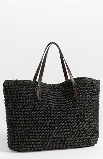 crochet straw bag