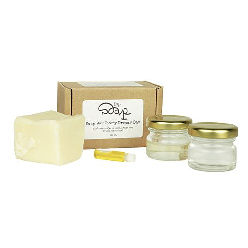 Make your own natural soap with this small soap making kit. Add honey, sugar, herbs or flowers to customize your soap bar.