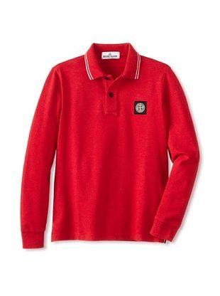 53% OFF Stone Island Kid's Melange Polo (Red)