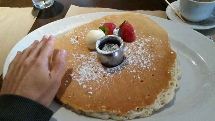 the largest pancakes I've ever eaten