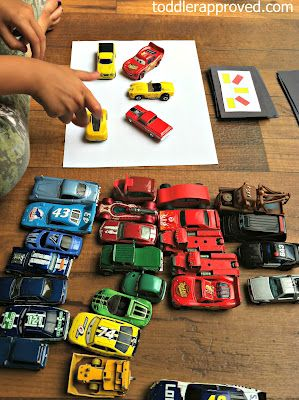 """Car'd"" game - sort & match cars to colour cards ("",)"