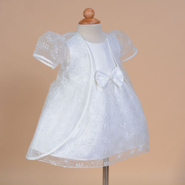 >> Click to Buy << new baby flower girl dress for wedding one year birthday two pieces dress and gauze coat bow princess dress #Affiliate
