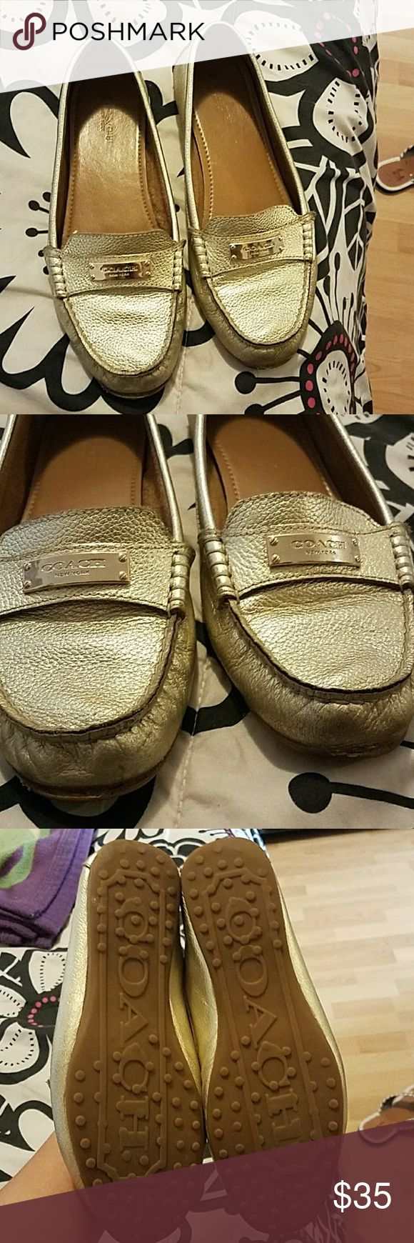 Coach flats Gold coach flats. Very comfortable Coach Shoes Flats & Loafers