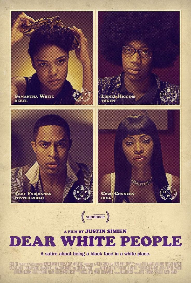 Movie Review: Dear White People  With an indiegogo campaign that raised just over 40000 dollars Dear White People was a go. I finally got around to seeing the movie once I got into a larger city. The small predominately white college town I usually live in was not going to have that playing in the one theater they had. I went in expecting a film that just made fun of white people. I was going to be completely okay with that. I make fun of white people all the time. I'm pretty good at it too…