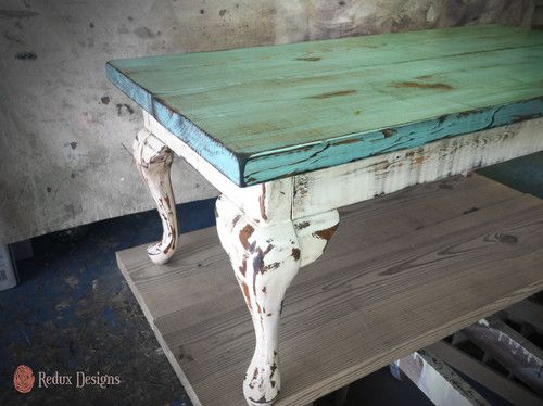 Hand built rustic coffee table - like color