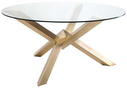 Nuevo Costa Glass Dining Table in Clear