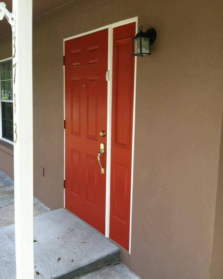 Residential Exterior Services: Door Color The Doors Are Sherwin Williams Brick Paver Red