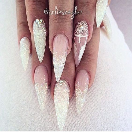 70+ trendige und einzigartige Stiletto Nail Art Designs; Stiletto Nail Designs; Bling St … – Frisuren