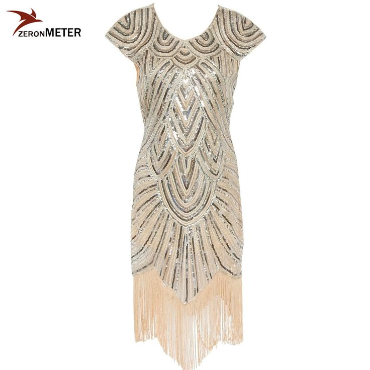 Cheap dress for, Buy Quality dress women directly from China dress for sale Suppliers:        Hot Sale 1920s Vintage Flapper Girls Dress Women Beige Elegant Sequin Tassel Cap-sleeve Dress for Party Evening C