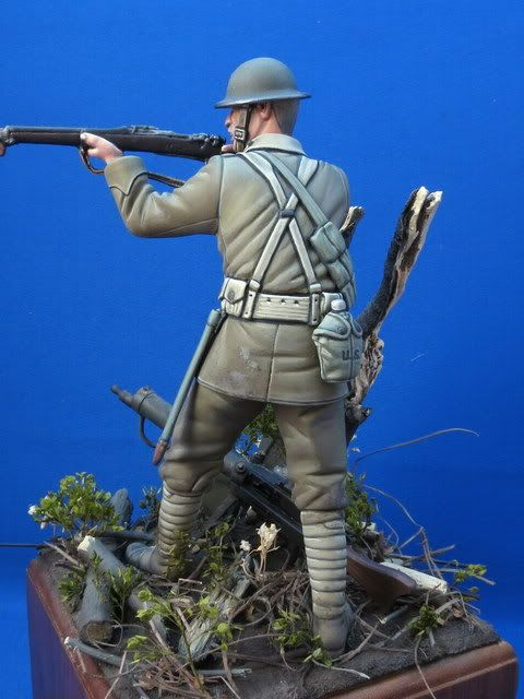 """Here is my latest commission work entitled """"Belleau Wood"""". It depicts a US 5th Marine in this famous WWI battle that took place in June..."""