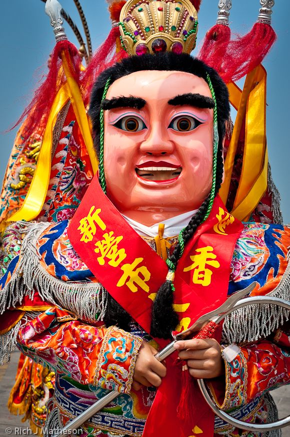 Nezha San Tai Tz Great God General Folk Religion Puppet in Taiwan