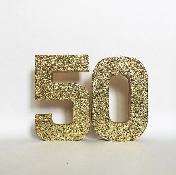 Silver Gold Glitter 50th Birthday Anniversary by ZoeyElisa