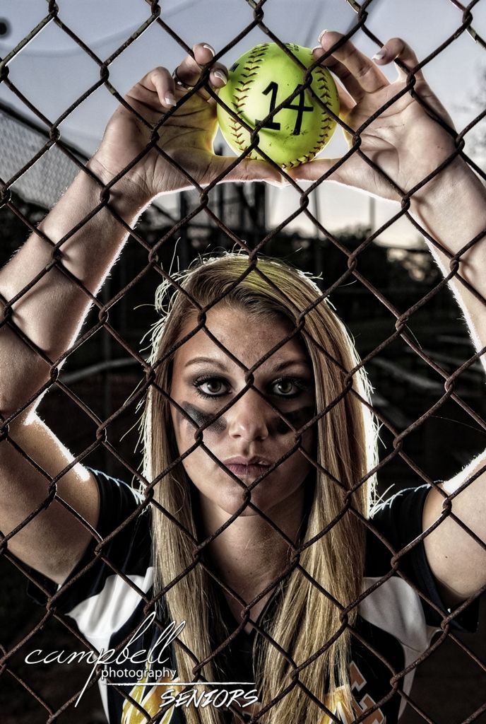 girl senior portrait, girls softball, softball portrait