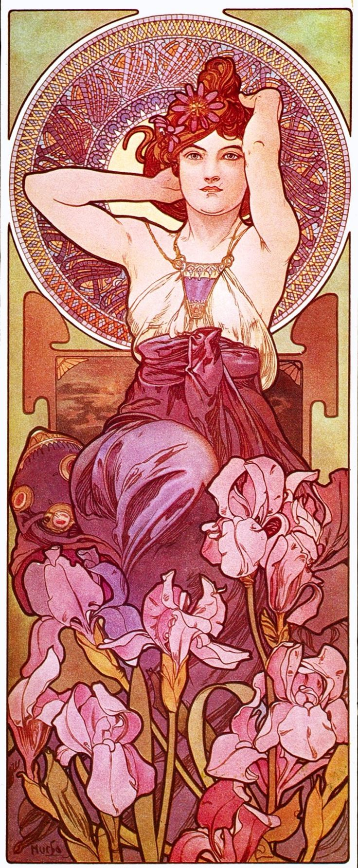 mucha series pierres amethyste 1900 dvdbash peintures alphonse mucha pinterest. Black Bedroom Furniture Sets. Home Design Ideas