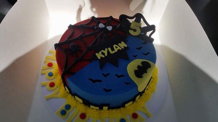 Half batman half spiderman