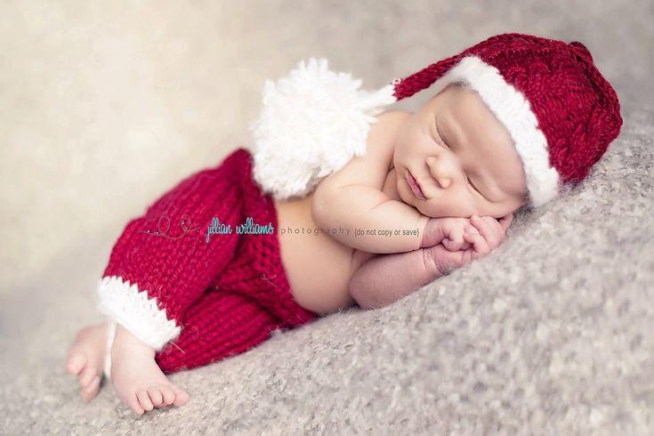 baby santa hat baby santa outfit newborn santa by CrochetMyLove, $45.00
