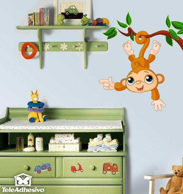 Adesivi per Bambini Scimmia appesa a un albero