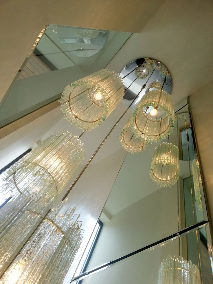 Staircase chandelier designed and made for Louise Bradley