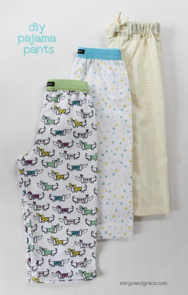 Easy DIY Pajama Pants  | mingoandgrace.com |