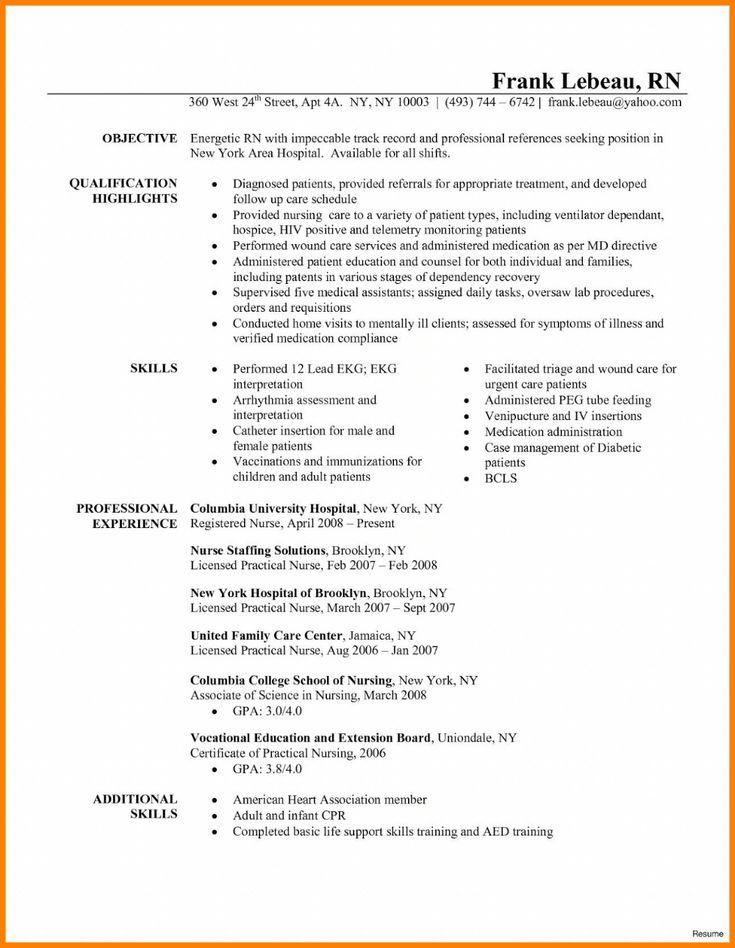 Nursing resume examples 2019 new grad pdf 2020 nursing