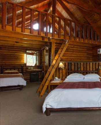 Tsitsikamma Lodge and Spa, Stormsrivier (Eastern Cape, South Africa).  All the cabins have standard features: Private spa bath, BBQ (braai) facilities with private deck, T.V. with M-net, telephone and tea/coffee trays, as well as a mini fridge.