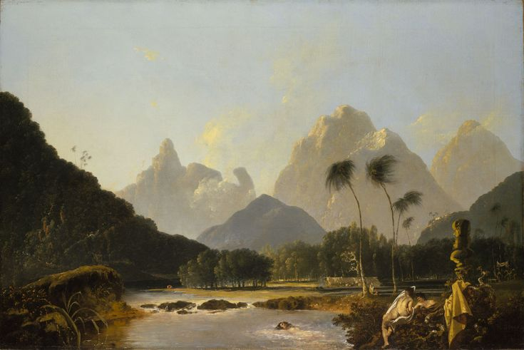"'A View taken in the bay of Oaite Peha [Vaitepiha] Otaheite [Tahiti]' (""Tahiti Revisited"") - National Maritime Museum"