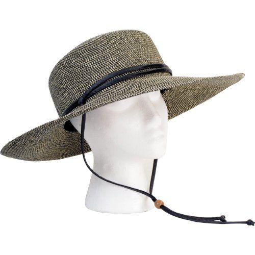 Best Sun Hats for Women | Sloggers 442SG Womens Sage Wide Braided Hat