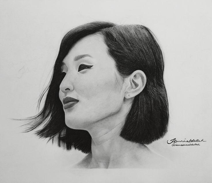 Portrait of Nicole Warne aka @garrypeppergirl by Asma'a Abdullah.  #art #artist #artists #chracoal #pencils #nicolewarne #portrait #blackabdwhite #sketch #saudiarabia #middleeastArtist #illustration #drawings #harperbazaar #vogue #blogger